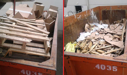 Recycling Facility Trash Compaction