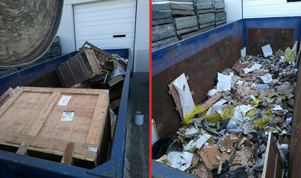 Trucking Company Trash Compaction
